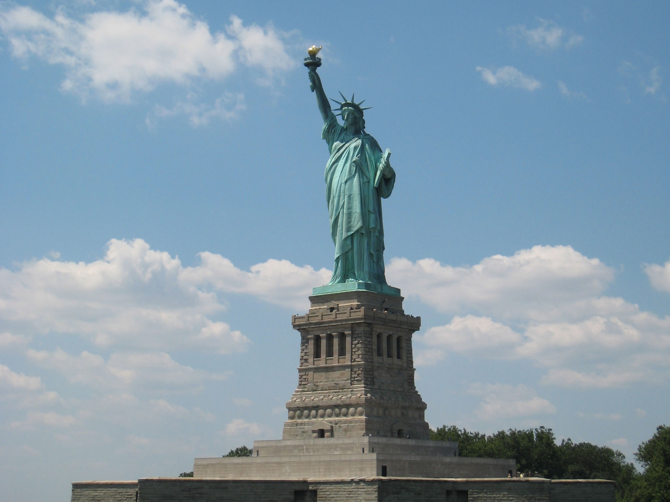 The magnificent Statue of Liberty on Liberty Island New York City