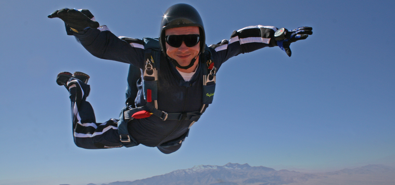 Skydiving in Mesquite, Nevada